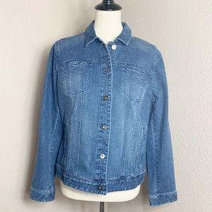 {NWT} J.Jill • Denim Jacket. • Medium Wash • Sz M